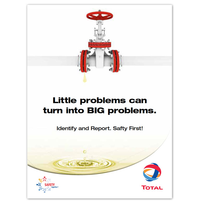 Total Lubricants Safety Poster